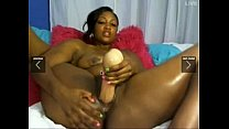 Who is she?? Ebony solo squirter.... Thumbnail