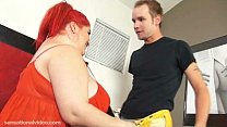 Big Tit BBW Wife Fucks Young Fireman