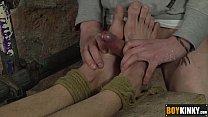 Ashton putting his cock between his feet and st... Thumbnail