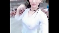 Kashmiri Girl Bathing