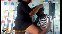 Hot BBW South African hair stylist banged in he...