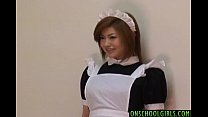 Ai Aito undressed of uniform licked and nailed