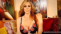 Superstar MILF Julia Ann in Red High Heels Mast...