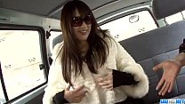 Serina amazing porn play in the car along her p...