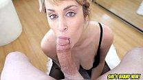 Sexy big tit blonde Maxim Law POV deepthroat bl...