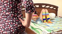 Mature roommate teaches horny lesbian teen
