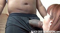 His big black cock is going to fill my ass with...