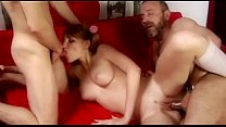 Hot Threesome with Older man and cute babe Thumbnail