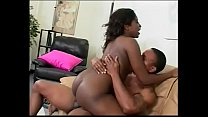 Black beauty rides hard cock with her super wet... Thumbnail