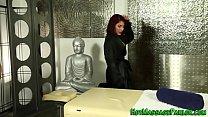 Adoring masseuse blows