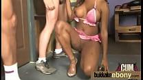 Ebony interracial group sucking and fucking 15