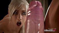 Horny blonde and her big tits girlfriend enjoyi...