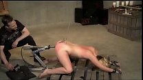 bdsm rough sex - Horny blonde milf hooked in her ass and fucked with machine - WWW.GIFALT.COM - bondage fetish