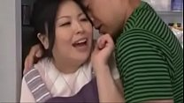 Chinese mom and son