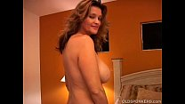 Naughty MILF plays with her pussy and blows the cameraman Thumbnail