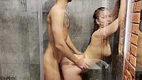 Shower Creampie with Pretty Redhead Wife KleoMo...