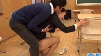 Dirty teacher Yui Oba goes sleazy on a tasty cock Thumbnail
