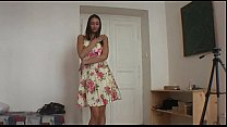 Beautiful teen brunette plays with horny guy Thumbnail