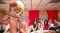 DANCING BEAR - A Bunch Of Horny Women Suck Male Stripper Dicks At A CFNM Party
