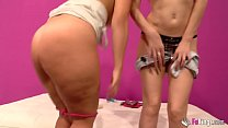 Savage lesbian sex session with Montse and Carm... Thumbnail