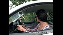 Brunette Mature Sex With Young Man For Fixing Her Car