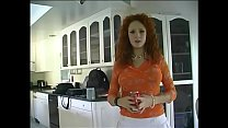 Lovely beauty with red hear Audrey Hollander changies lingerie on cam