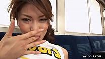 Hot Asian cheerleader getting fucked then sprayed Thumbnail