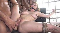 Natural busty slave rough banged