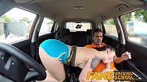 Fake Driving School Cum covered pussy after gam...