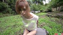 Fantasy outdoor sex in POV with slim Mikuru Shi...