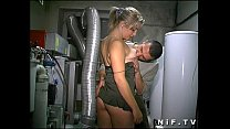 Young french blonde anal fucked in threesome wi...