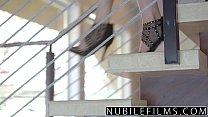 NubileFilms - Horny Coeds Titty Fucking Threeway