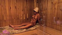 Lover Sensual Pussy Licking in the Sauna after ...