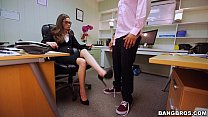 Office Slut Sucks a Black Dick at Work