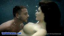 Busty Babe Fucks Underwater Thumbnail