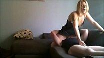 Blonde Wife sitting on bestfriends face - t...