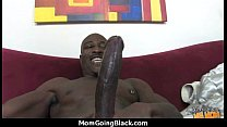 Mature Mom barely takes 10 inch Black Cock 24