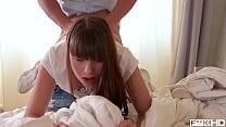 Teens Luna Rival & Rebecca Volpetti suck & fuck... Thumbnail