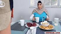 Arab stepmom and teen amazing threesome