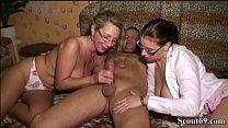 German Mom help Virgin Step Daughter with her F...