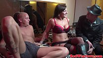 Amsterdam lingerie hooker gets a cum mouthful)