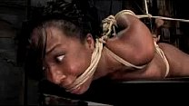 Black Girl Getting Hogtied Pussy Stimulated Wit...