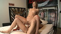 Alyssa Branch on high heels slurps juices from ...