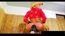 Sexy blonde pornstar Jayda Diamonde rides a mas...