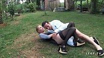 Cindy Picardie grave sodomisee dans le jardin Thumbnail