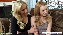 Beauty blondes Lexi Belle and Mia Malkova shari...