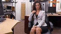 Brunette lady gets boned in the backroom