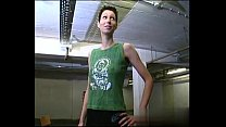 Short-hair petit tomboy with nice tits gets fuc...