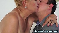 Chubby granny jizz mouth
