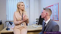 Sexy busty teacher fucked hard in her office Thumbnail